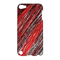 Red and black elegant pattern Apple iPod Touch 5 Hardshell Case