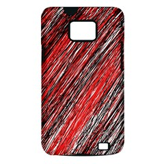 Red and black elegant pattern Samsung Galaxy S II i9100 Hardshell Case (PC+Silicone)
