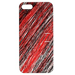 Red and black elegant pattern Apple iPhone 5 Hardshell Case with Stand