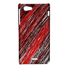 Red and black elegant pattern Sony Xperia J