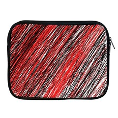 Red and black elegant pattern Apple iPad 2/3/4 Zipper Cases