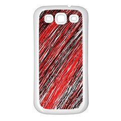 Red and black elegant pattern Samsung Galaxy S3 Back Case (White)
