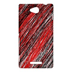 Red and black elegant pattern Sony Xperia C (S39H)