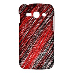 Red and black elegant pattern Samsung Galaxy Ace 3 S7272 Hardshell Case