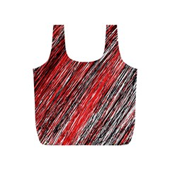 Red and black elegant pattern Full Print Recycle Bags (S)
