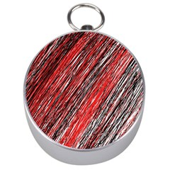 Red and black elegant pattern Silver Compasses