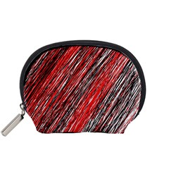 Red and black elegant pattern Accessory Pouches (Small)