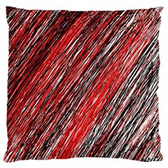Red and black elegant pattern Large Flano Cushion Case (Two Sides)