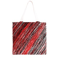 Red and black elegant pattern Grocery Light Tote Bag