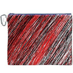 Red and black elegant pattern Canvas Cosmetic Bag (XXXL)