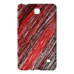 Red and black elegant pattern Samsung Galaxy Tab 4 (7 ) Hardshell Case