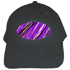 Purple pattern Black Cap