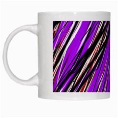Purple pattern White Mugs