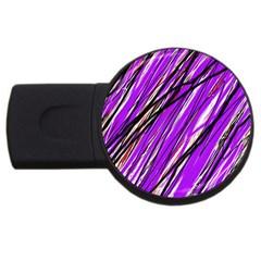 Purple pattern USB Flash Drive Round (4 GB)