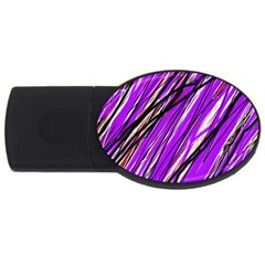 Purple pattern USB Flash Drive Oval (4 GB)