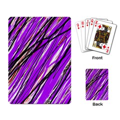 Purple pattern Playing Card