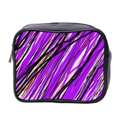 Purple Pattern Mini Toiletries Bag 2 Side