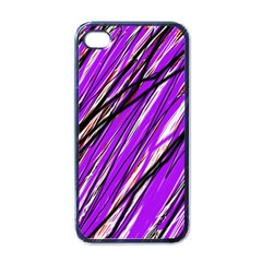 Purple pattern Apple iPhone 4 Case (Black)