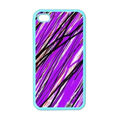 Purple pattern Apple iPhone 4 Case (Color)