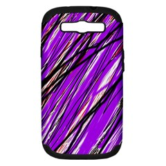 Purple pattern Samsung Galaxy S III Hardshell Case (PC+Silicone)