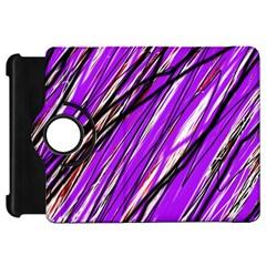 Purple pattern Kindle Fire HD Flip 360 Case