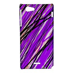 Purple pattern Sony Xperia J