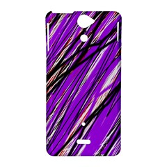 Purple pattern Sony Xperia V