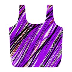 Purple pattern Full Print Recycle Bags (L)
