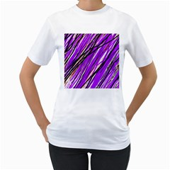 Purple pattern Women s T-Shirt (White)