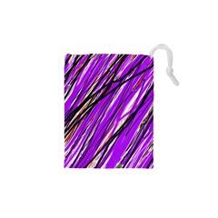 Purple pattern Drawstring Pouches (XS)