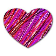 Purple pattern Heart Mousepads