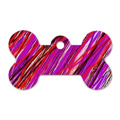 Purple pattern Dog Tag Bone (Two Sides)