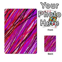 Purple pattern Multi-purpose Cards (Rectangle)