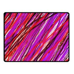 Purple pattern Fleece Blanket (Small)