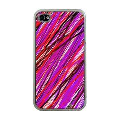 Purple pattern Apple iPhone 4 Case (Clear)