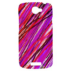 Purple pattern HTC One S Hardshell Case