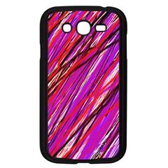 Purple pattern Samsung Galaxy Grand DUOS I9082 Case (Black)