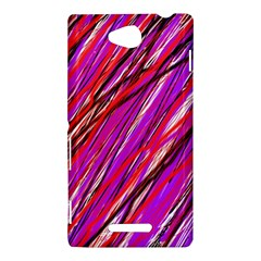 Purple pattern Sony Xperia C (S39H)