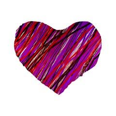 Purple pattern Standard 16  Premium Flano Heart Shape Cushions