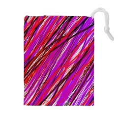 Purple pattern Drawstring Pouches (Extra Large)