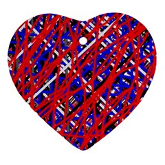 Red and blue pattern Ornament (Heart)