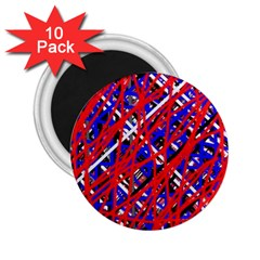 Red and blue pattern 2.25  Magnets (10 pack)