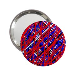 Red and blue pattern 2.25  Handbag Mirrors