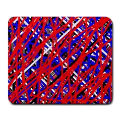 Red and blue pattern Large Mousepads