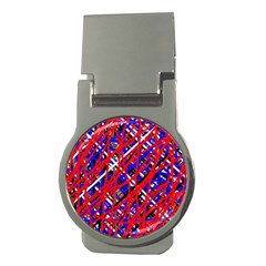 Red and blue pattern Money Clips (Round)