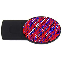 Red and blue pattern USB Flash Drive Oval (1 GB)