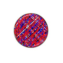 Red and blue pattern Hat Clip Ball Marker (10 pack)