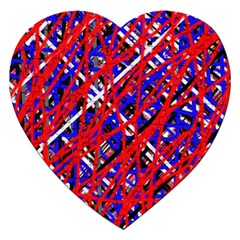 Red and blue pattern Jigsaw Puzzle (Heart)