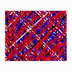 Red and blue pattern Small Glasses Cloth