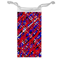 Red and blue pattern Jewelry Bags